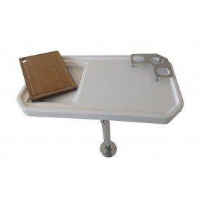 mesa nautica fibra 45 x 80 haste de inox altura regulavel unico mesa 2