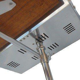 churrasqueira nautica bruce inox b40 dupla completa para plataforma de lancha unico entrada de ar